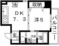 ヴェルデカーサ高津[7階]の間取り