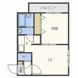 フォレスト円山[303号室]の間取り