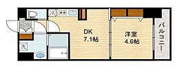 スプランディッド新大阪キャトル[10階]の間取り