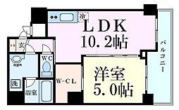 阪急千里線 天神橋筋六丁目駅 徒歩6分の賃貸マンション 6階1LDKの間取り