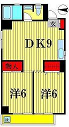 松戸パレス[6階]の間取り