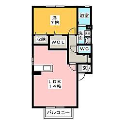 ファミール2[1階]の間取り