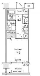 新交通ゆりかもめ 新豊洲駅 徒歩22分の賃貸マンション 7階1Kの間取り