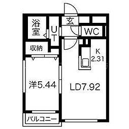 北海道札幌市豊平区豊平五条6丁目の賃貸マンションの間取り