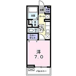 神奈川県横須賀市若宮台の賃貸アパートの間取り
