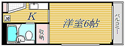 東京都新宿区西落合3丁目の賃貸マンションの間取り