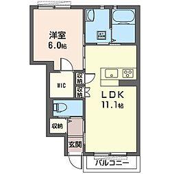 エマーブル[1階]の間取り