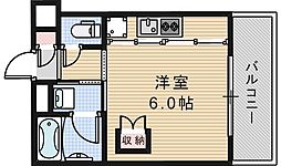 トーシン阪南町ビル[803号室]の間取り