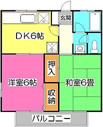 ガーデンハイツII[2階]の間取り