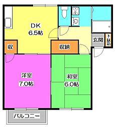 東京都東村山市廻田町4丁目の賃貸アパートの間取り