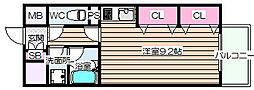 大阪府大阪市北区天神橋7の賃貸マンションの間取り