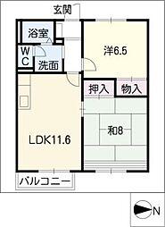 ファミール K3[1階]の間取り