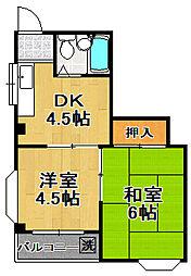 泉尾シャルマン[2階]の間取り