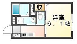 広島県福山市沖野上町5丁目の賃貸アパートの間取り