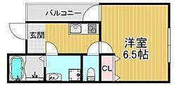 ハウスアイ大和田 1階1Kの間取り