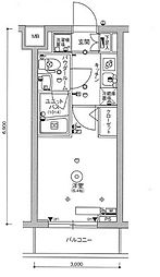 京急本線 立会川駅 徒歩5分の賃貸マンション 2階1Kの間取り