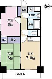 ふぁみぃゆ南[2階]の間取り