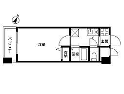 プレール三田[306号室]の間取り