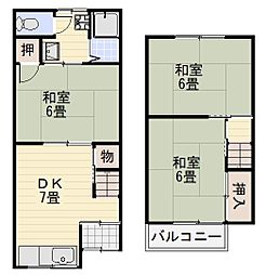 上野芝町7丁テラス[103号室]の間取り