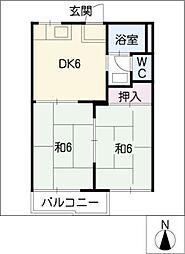 ファミール野並A・B[2階]の間取り