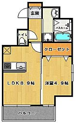 ウインステージ 箱崎 II[9階]の間取り