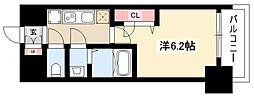メイクス矢場町 3階1Kの間取り