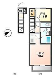 村雲アパートメント[2階]の間取り