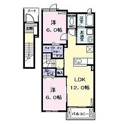 ポニートI(ポニートワン)[2階]の間取り