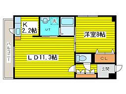北海道札幌市東区北八条東3丁目の賃貸マンションの間取り
