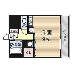 シャトーボヌゥール今城[1階]の間取り
