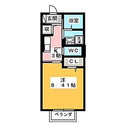 D-roomYH 1階1Kの間取り
