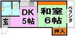 木田ハイツ[4階]の間取り
