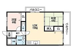 グリーンハイム千里II[3階]の間取り