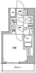 ジェノヴィア川崎駅グリーンヴェール[12階]の間取り
