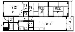 エリスハイム田中[1106号室号室]の間取り