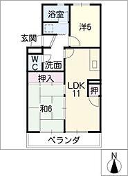 第2マンション郷[3階]の間取り