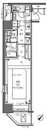 JR総武本線 馬喰町駅 徒歩2分の賃貸マンション 12階1Kの間取り