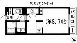 兵庫県宝塚市川面5丁目の賃貸アパートの間取り