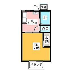 ハイツオークラ[2階]の間取り