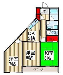 大久保ビル[3階]の間取り