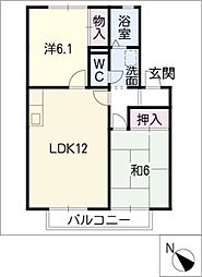 コート山本II A棟[2階]の間取り