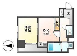 K−Point Bldg(ケイポイントビル)[6階]の間取り