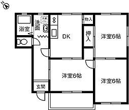 シードルハウス[202号室]の間取り