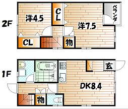 フィールド・イン湯川IIC棟[1階]の間取り