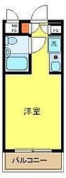東京都新宿区西早稲田3丁目の賃貸マンションの間取り