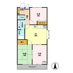 ウィズマンション[1階]の間取り