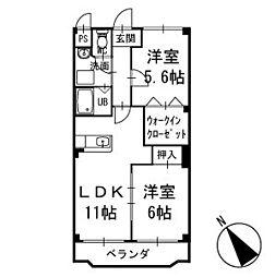 リュミエール中園   2階[203号室]の間取り