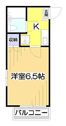 カトレア1号館[1階]の間取り