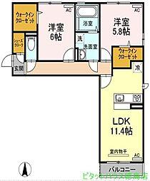 (仮称)D-room中吉野[310号室]の間取り
