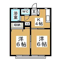 今野アパート[2階]の間取り